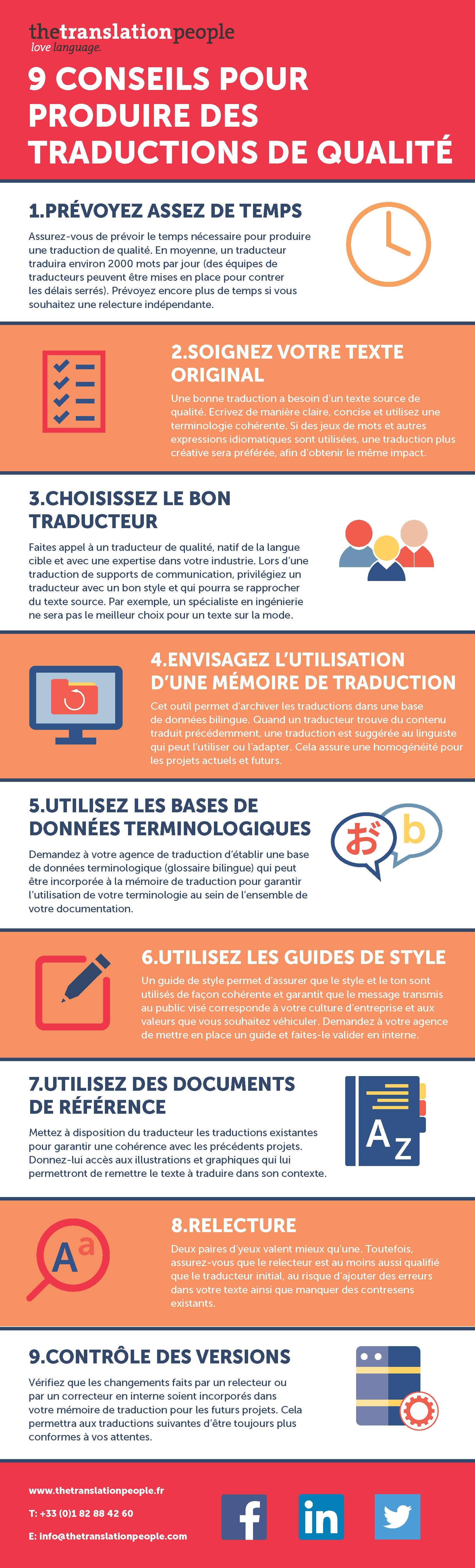 9 conseils pour produire des traductions de qualité